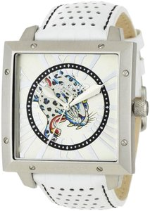 Ed Hardy Ed Hardy Male Defender Blue Leopard Watch DE-BL White Analog