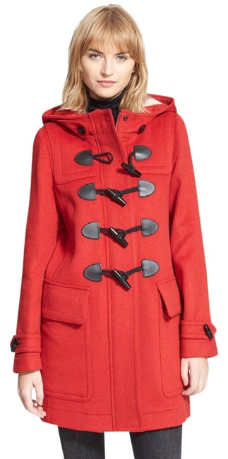 Item - Red Duffle Women's Finsdale Wool Toggle Hooded Coat Size 2 (XS)