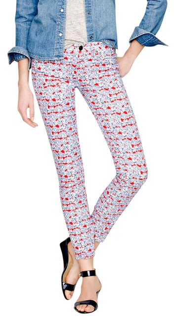 Item - Blue Red White Liberty Floral Skinny Jeans Size 28 (4, S)