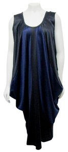 blue/black Maxi Dress by Issey Miyake Cocoon Bicolor Two-tone Midi 02