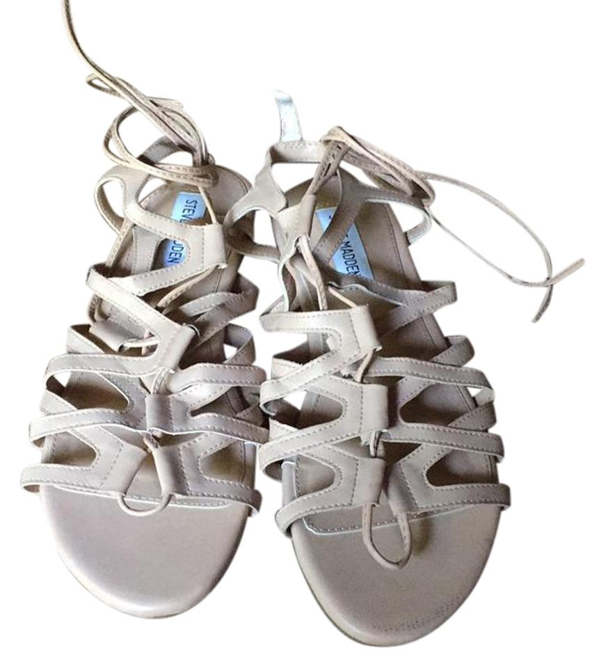 d8f7c41f8fd Steve Madden Nude Strap Up Lace Up Tie Gladiator Sandals Size US 8.5 ...