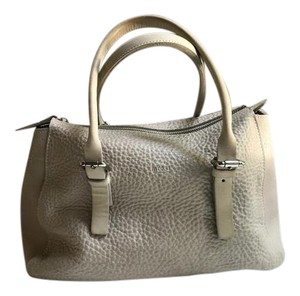 m0851 Pebbled Leather Buttery Convertable Light Satchel in Gray