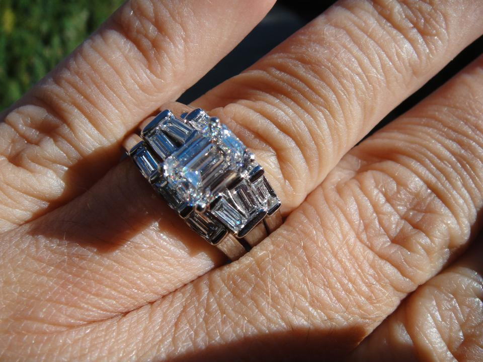 H 250 emerald cut set engagement ring tradesy for Buy now pay later wedding rings no credit check