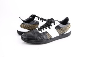Versace Studded Patch Low-top Sneakers Black/White Shoes