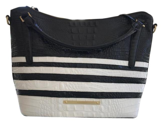 Item - Small Corsica Black and White Leather Hobo Bag