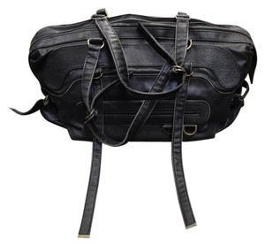 Stella McCartney Travel Weekend Duffle Edgy Charcoal Travel Bag