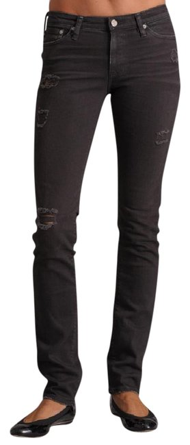 "Item - Black Faded Distressed ""Washed Out"" Ripped Skinny Jeans Size 24 (0, XS)"