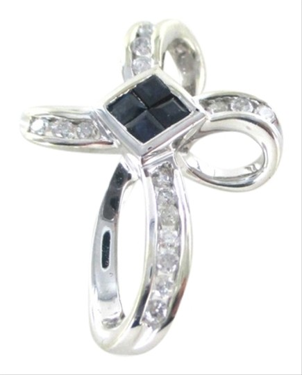 Preload https://img-static.tradesy.com/item/2175642/gold-14kt-solid-white-cross-16-diamonds-32-carat-4-sapphires-pendant-31-grams-charm-0-0-540-540.jpg