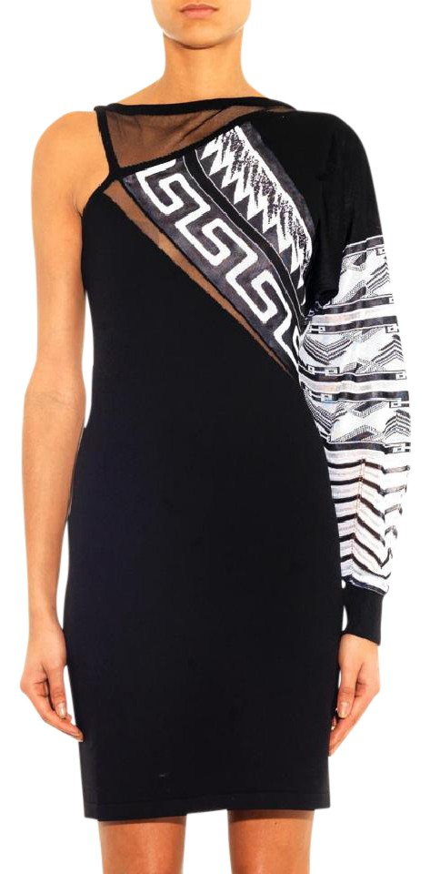 f4bed22dc35 Versace New Versus X Anthony Vaccarello One Sleeve Mini 40 Cocktail Dress