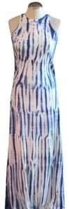 white and blue Maxi Dress by Cosabella