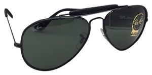 Ray-Ban RAY-BAN Sunglasses RB 3422-Q 9040 Black & Black Leather Aviator w/ G15