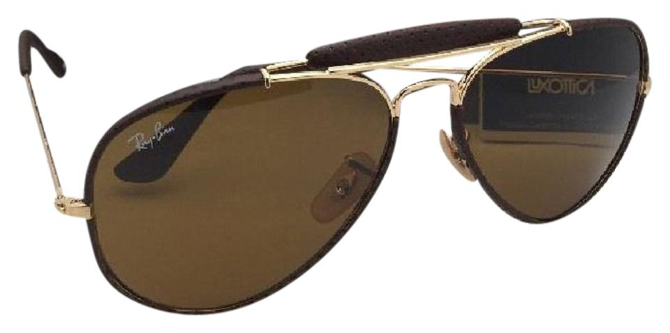 e1062d1690 Ray-Ban New Rb 3422-q 9041 Gold   Brown Leather Aviator W  B15 Brown ...