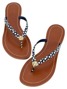 Tory Burch 190041469246 Navy/White Sandals