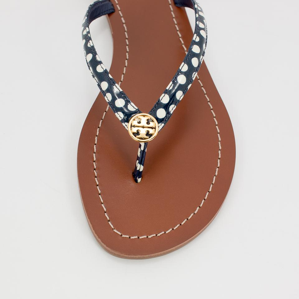 c0d3a6a0c Tory Burch Navy White Nautical Terra Thong Dots Flip Flop Sandals ...