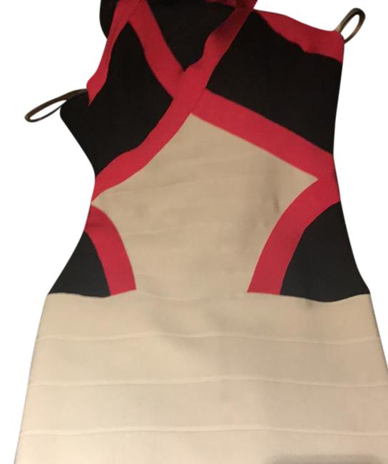 Item - Black Pink White Hrt6w091-1s8 Mid-length Night Out Dress Size 8 (M)