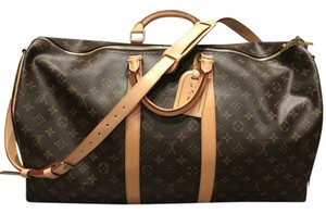 Louis Vuitton Leather Monogram Classic Keepall Travel Bag