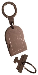 Louis Vuitton Silver Tone Name Tag Metal Key Charm