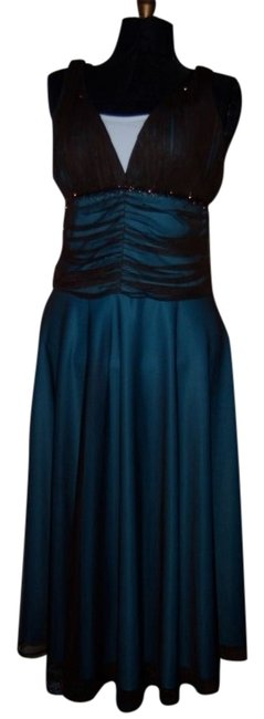 Preload https://item4.tradesy.com/images/brown-wturquoise-underlay-mesh-long-cocktail-dress-size-10-m-21758-0-1.jpg?width=400&height=650
