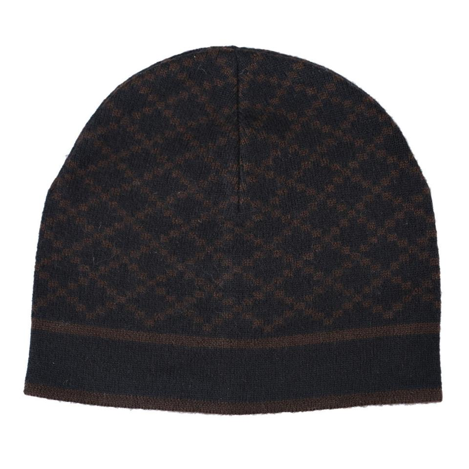 7c722a22ba510 Gucci Black Brown Unisex Multi-color Wool Beanie One Size Hat - Tradesy