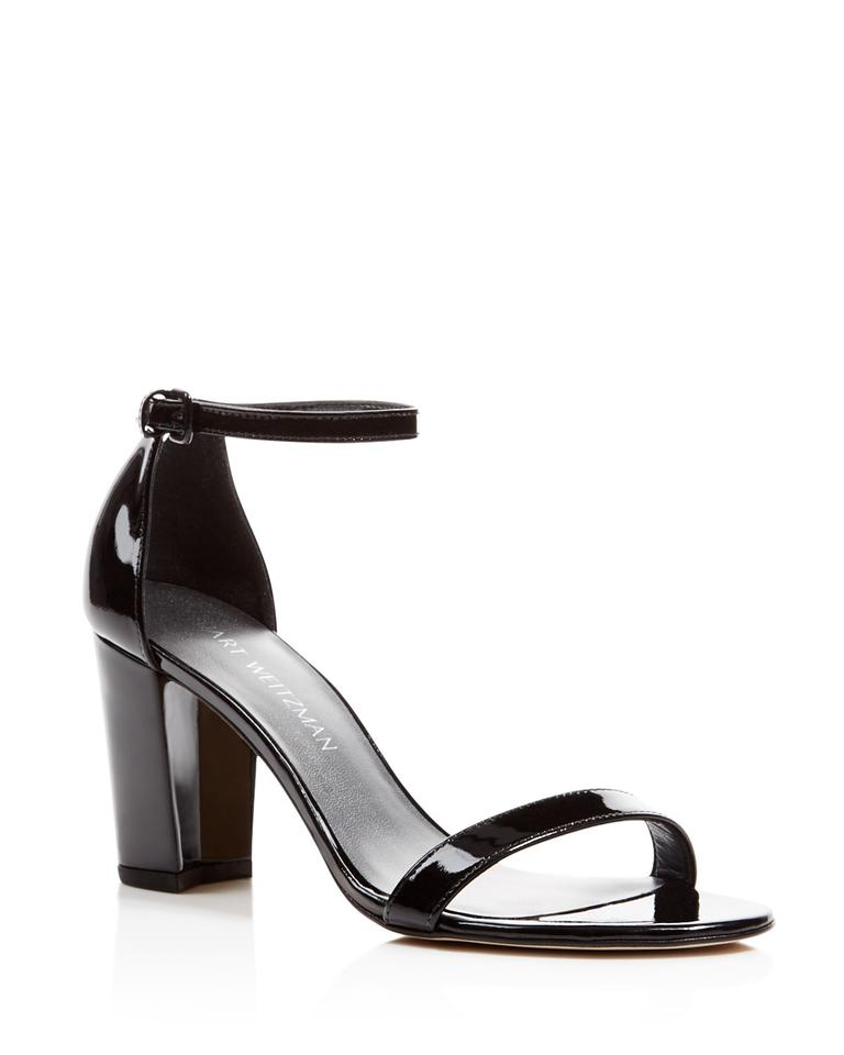 9e96dd2d9a3 Stuart Weitzman Black Nearlynude Patent Leather Sandals Size EU 35.5 ...