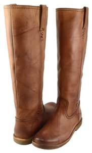 Frye Celia X Stitch Saddle Leather Womens Designer Knee High Brown Boots