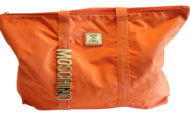 Item - Bag Shopper Gold Italy Attached Pouch Orange Tote