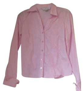 Petite Sophisticate Button Down Shirt pink