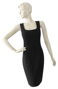 Andrew Gn Sheath Shift Lbd Wool Silk Dress
