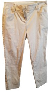 New York & Company Straight Pants Tan