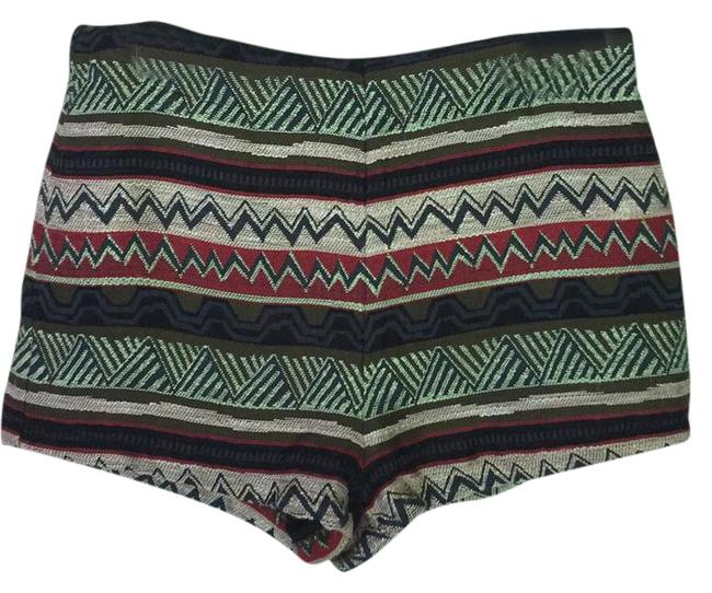 Item - Green Embroidered Navajo Zip Back Shorts Size 12 (L, 32, 33)