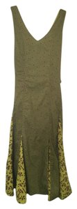 Green/Gold Print Maxi Dress by J. Peterman