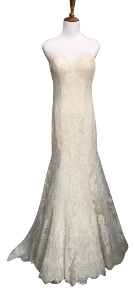 Lillian West Light Gold Ivory Chantilly Lace 6399 Feminine Wedding ...