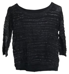 H&M 3/4 Sleeve Sheer Sheer Sweater