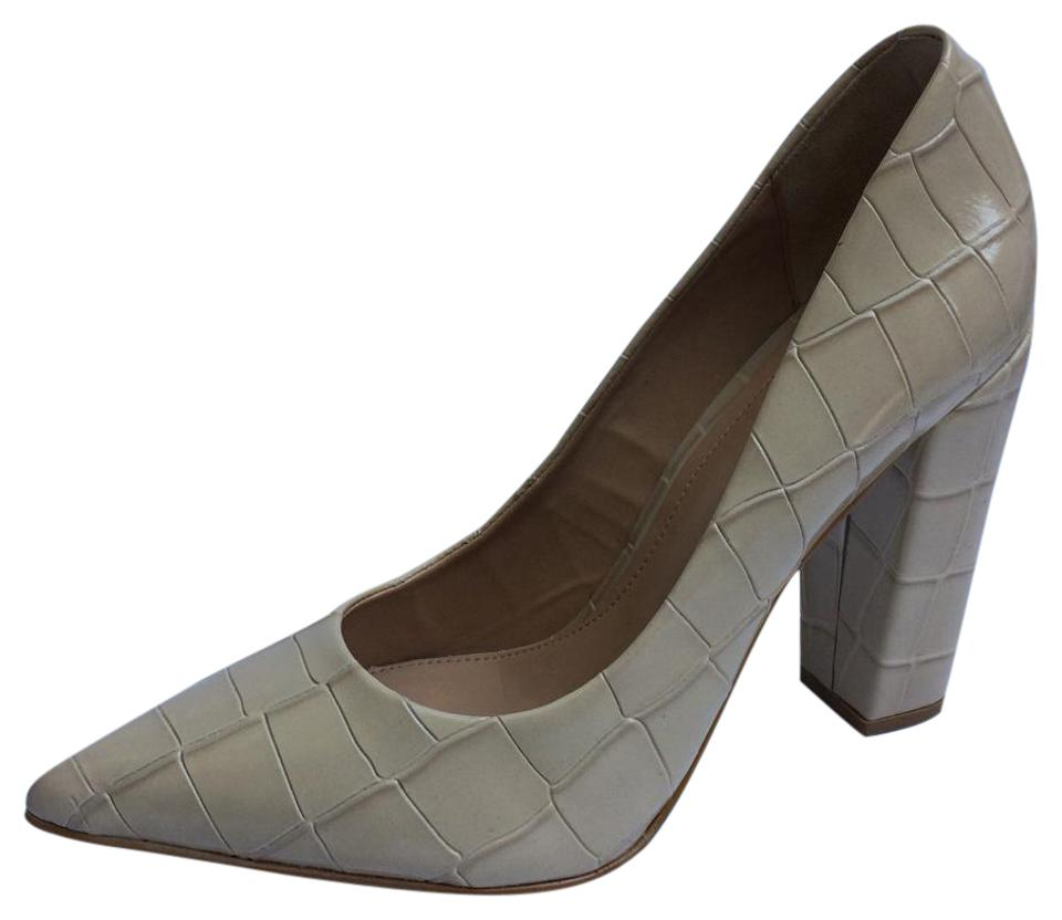 Brian Atwood Odessa Beige New Odessa Atwood Croco Embossed Pumps 4aa693