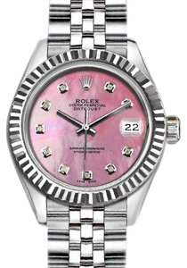 Rolex 36mm Datejust with Diamond Pink Mother of Pearl Dial