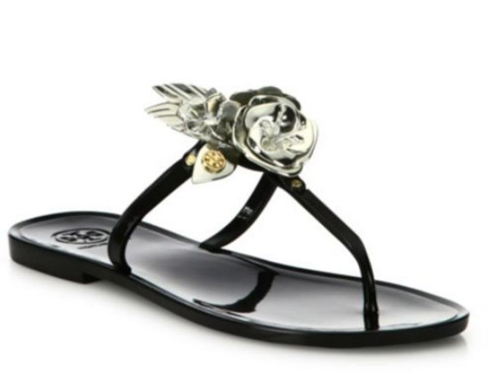 Tory Burch Sandals Black Blossom Jelly Thong Sandals Burch 5e9333