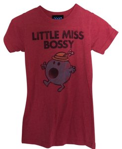 Junk Food Urban Outfitters Little Miss Bossy Bossy Cartoon T Shirt red