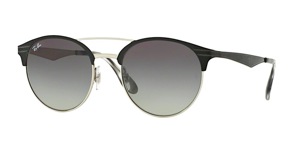 083a96c8d39 Ray-Ban Black   Silver   Gray Gradient Lens Trim Rb 3545 9004 11 ...