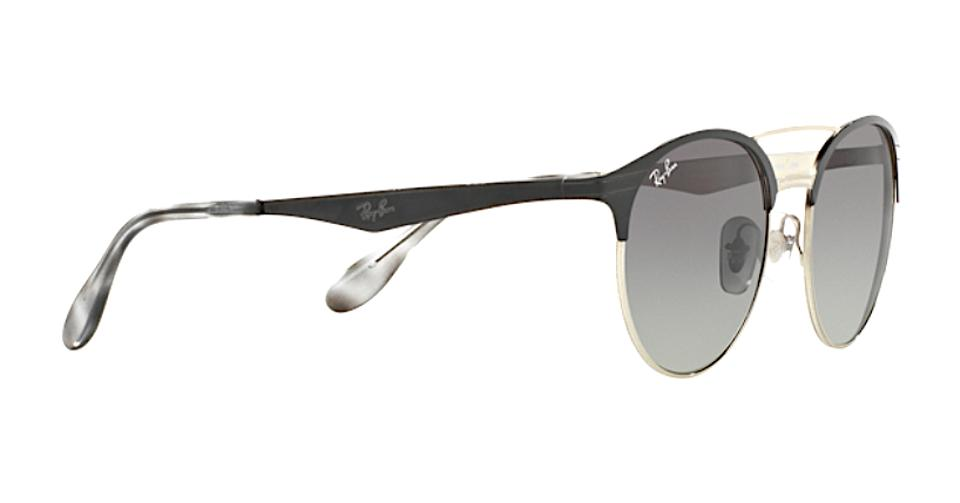 aa52f9267e Ray-Ban Black   Silver   Gray Gradient Lens Trim Rb 3545 9004 11 - Free  Shipping Sunglasses - Tradesy