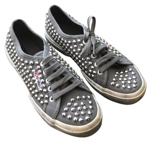 Superga Studded Laced Up Sneaker Grey Athletic
