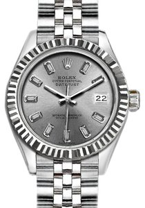 Rolex 36mm Datejust with Diamond Silver Dial