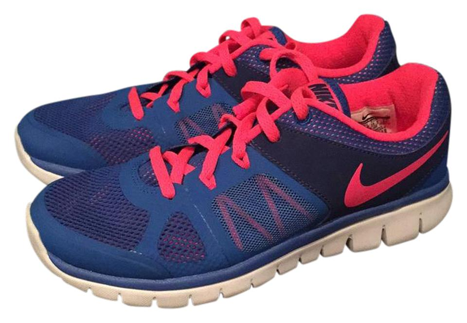 WOMEN Flex Nike Blue/Pink Flex WOMEN Run Sneakers Durable service 7a0b63