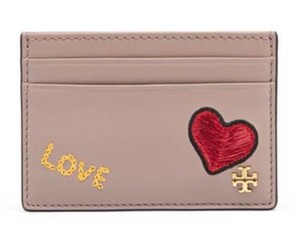 Tory Burch Tory Burch Peace & Love Slim Card Case french gray