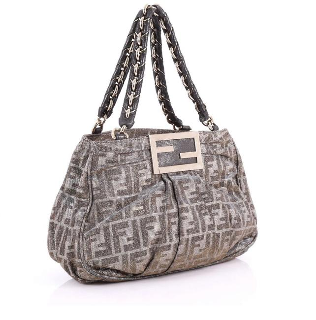 Item - Shoulder Bag Borsa Mia Zucca Metallic Gold Silver and Brown Leather Tote