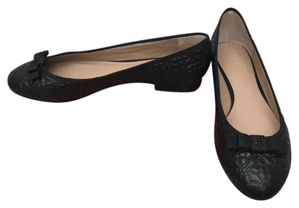 c03bab5fe5128f Tory Burch Black Bryant Quilted Ballet Flats Size US 10.5 Regular (M ...