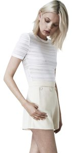 Finders Keepers High Waist Summer Shorts ivory white