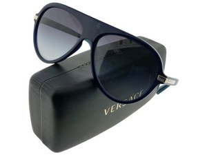 a2f2177152d8 Versace VE4321-106-8G Women s Blue Frame Grey Lens Genuine Sunglasses