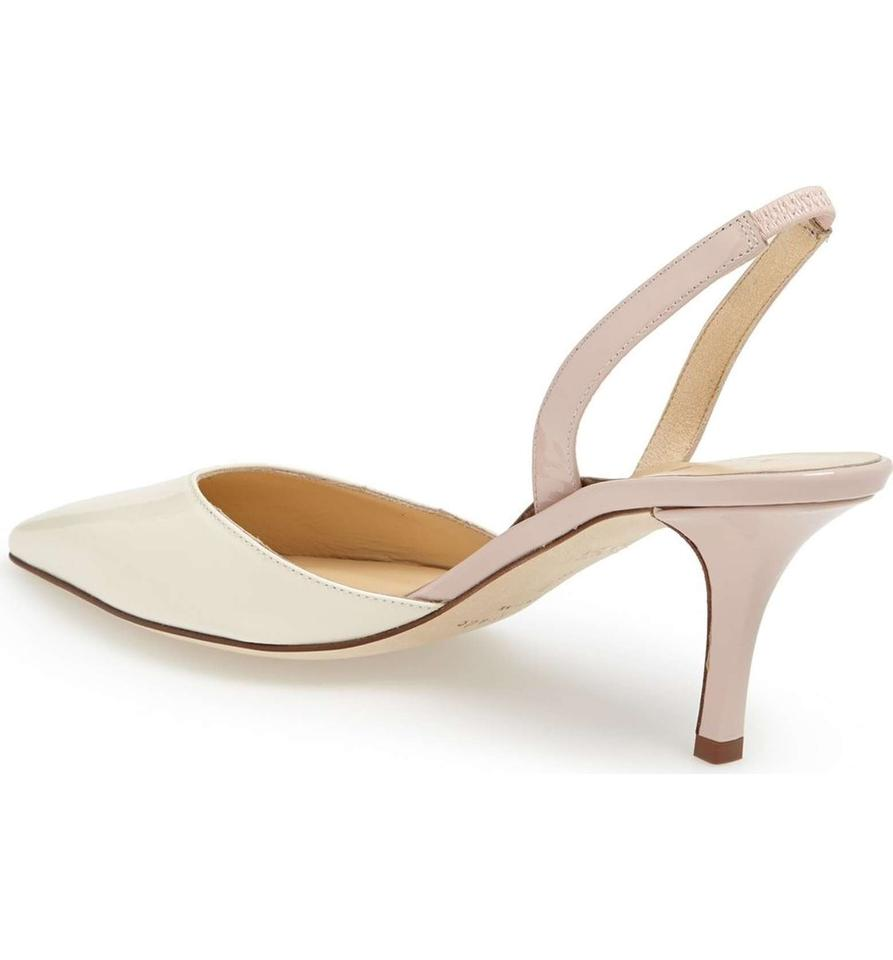 be4510945 Kate Spade White&pink New York 'jeanette' Slingback Formal Shoes ...