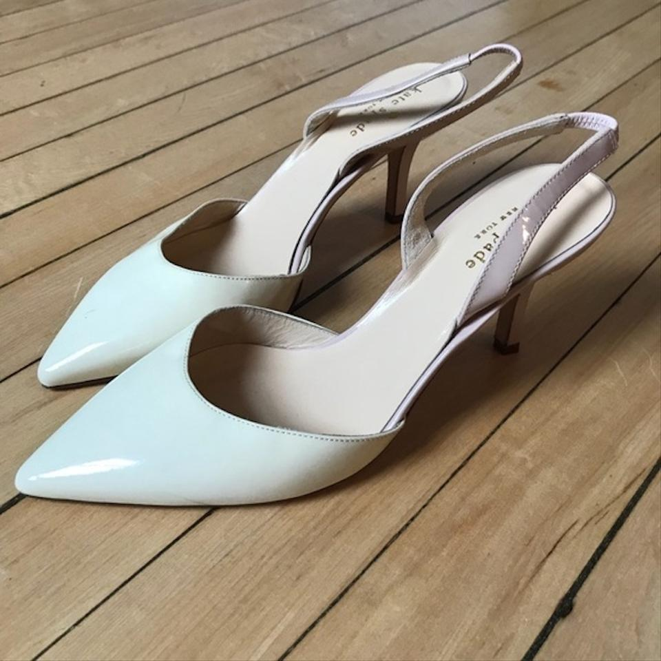 9d871d97f254 Kate Spade White pink New York  jeanette  Slingback Formal Shoes ...