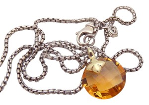 David Yurman DAVID YURMAN 925 18K Yellow Citrine CAPRI Necklace 17""